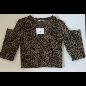 Cropped Leopard Sweater